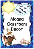 Moana Classroom Decor