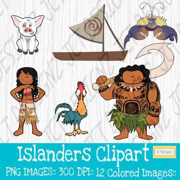 Moana Inspired Clipart