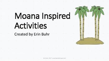 Moana Inspired Hawaii Island Unit Activities