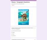 Moana Movie - Geography / History Google Form - Distance L