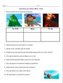 Moana Movie Guide Questions in Spanish. Moana Spanish Class!