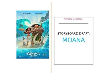 Moana Storyboard Template - English / Spanish