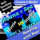 Google Classroom Language Arts Activities Bundle Using Moana Themed Parody Song