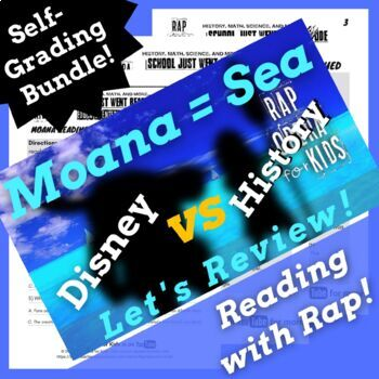 Google Classroom Reading Comprehension Activities Using Moana Themed Parody Song