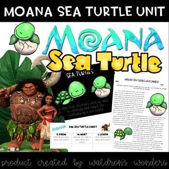 Moana Themed Sea Turtle Mini Unit