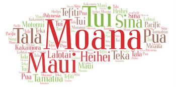 Moana Word Cloud