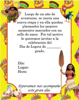 Moana Yellow invitation Editable!!!