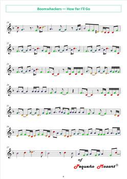 Moana for Boomwhackers, Piano, Violin and Cello