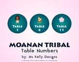 Moana n Tribal 1-12 Table Numbers