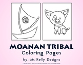 Moana n Tribal 10 Coloring Pages Set