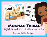 Moana n Tribal Cut & Glue Craft Activity with 191 Sight Words