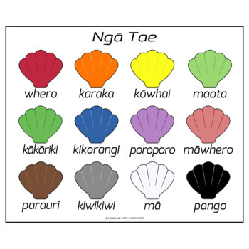 Moari Colors / Colors in Moari Language (High Resolution)