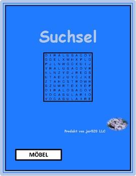 Möbel (Furniture in German) wordsearch