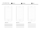 Mobile App Design Sketch Sheets