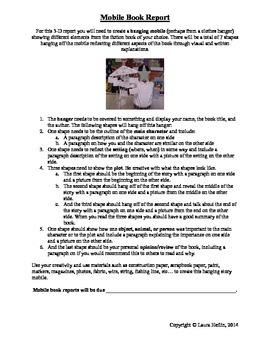 Mobile Book Report- Common Core ELA RL.2