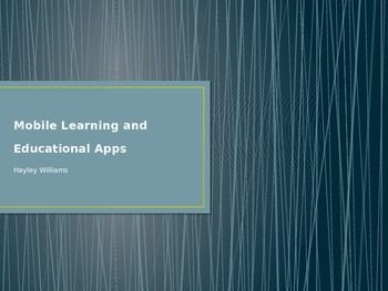 Mobile Learning and Educ Apps