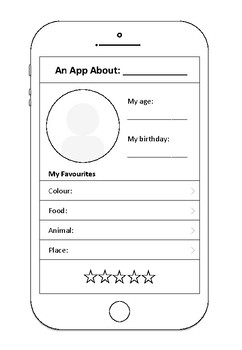 Mobile Phone - All About Me Activity