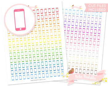 graphic relating to Printable Phones referred to as Cellular Telephones Printable Planner Stickers