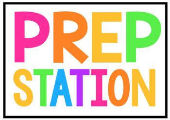 Mobile Prep Station Labels