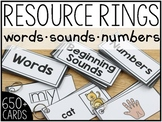 Mobile Resource Rings (Words, Sounds and Numbers)