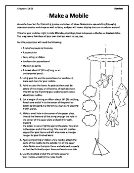 Hatchet by Gary Paulsen Novel Study Hanging Mobile Activity