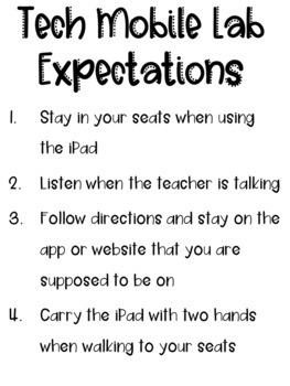 Mobile iPad Cart Expectations