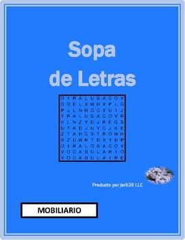 Mobiliario (Furniture in Spanish) wordsearch