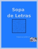 Mobiliario (Furniture in Spanish) Muebles Wordsearch
