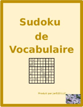 Mobilier (Furniture in French) Meubles Sudoku