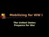 Mobilizing for World War I - The United States Prepares for War