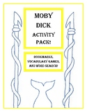 Moby Dick Activity Pack! Bookmarks, Vocab Games and More!