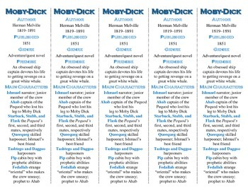 Moby-Dick edition of Bookmarks Plus—Fun Freebie & Handy Reading Aid!