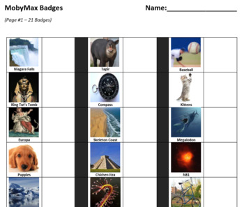 MobyMax Badges - Self-Tracking for Students