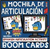 Mochila de Articulación Spanish Articulation BOOM Cards fo