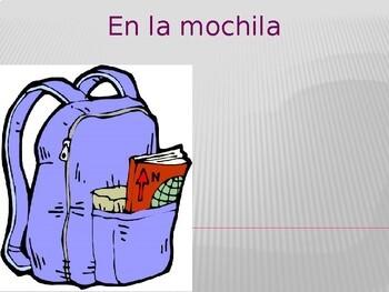 Utiles escolares (School objects in Spanish) Mochila power point