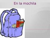 Utiles escolares (School objects in Spanish) Mochila PowerPoint