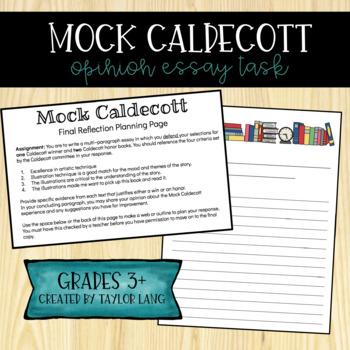 Mock Caldecott Opinion Writing Essay - Final Reflection