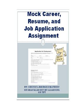 Mock Career, Resume, and Job Application Assignment