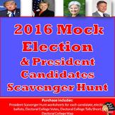 Mock Election 2016 & Presidential Candidates Scavenger Hunt