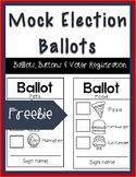 Mock Election Ballot Freebie