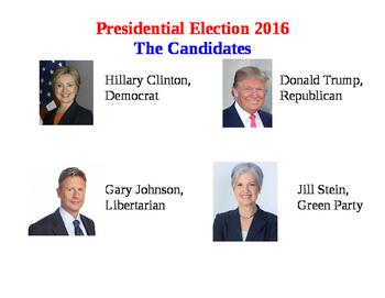 Mock Election Ballot Presidential Election 2016