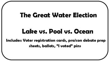 """Mock Election """"Ocean vs. Pool vs. Lake"""""""