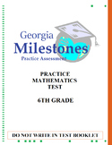 (6th Grade) Mock Georgia Milestones (GSE) Math Practice Test Bundle