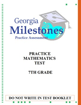 7th Grade Mock Georgia Milestones Gse Math Practice Test Bundle