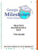 (7th Grade) Mock Georgia Milestones (GSE) Math Practice Test Bundle