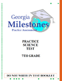 (7th Grade - Life Science) Mock Georgia Milestones Science Practice Test Bundle
