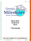 (7th Grade - Life Science) Mock Georgia Milestones Science Practice Test Bundle