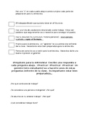 Mock Job Interviews in Spanish Class!