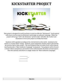 Mock Kickstarter Project