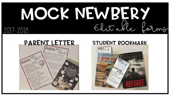 Mock Newbery Editable Forms and Bookmark